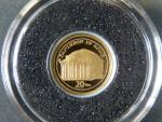 20 Vatu 2009 - Pantheon in Roma,  Au 0,999, 0,5g, náklad 10.000 ks, průměr 11 mm, KM 60