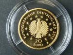 20 Euro 2010 F - Dub,  Au 0,999, 3,89 g, náklad 200.000 ks, průměr 17,5 mm, certifikát