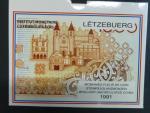 Luxemburg, oficielní sada mincí 1991