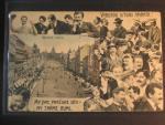 Praha, bar. pohl. Václavské nám., koláž s lidmi, prošlá 1907