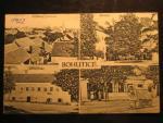 Bohutice u Mor. Krumlova, čb. pohlednice, prošlá 1922, odpadené zn.