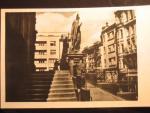 Brno, čb. fotopohlednice, Dominikánské nám., prošlá 1948
